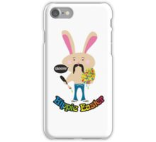 Groovy hippie Easter bunny painting Easter Egg iPhone Case/Skin