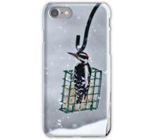 Hairy Woodpecker in the Storm II iPhone Case/Skin