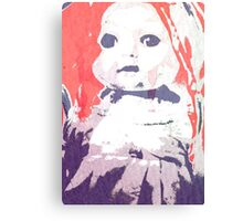 Scary Doll Screenprint #4 Canvas Print