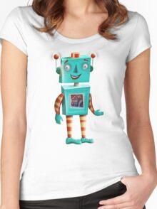 Aqua Robot Women's Fitted Scoop T-Shirt