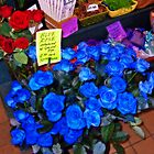 Blue Roses at Pike Place Market - Orton Series by Tamara Valjean