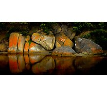 Rock Reflections ,Tidal River ,Wilson's Prom. NP Photographic Print
