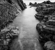 Hartland Slabs #2 B&W, Devon, England by Cherrybom