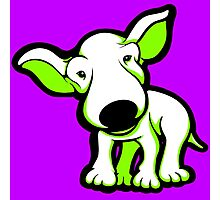 EBT Puppy White and Lime  Photographic Print