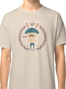 Totes hipster Easter bunny knitted hat skinny jeans Classic T-Shirt