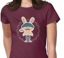Totes hipster Easter bunny knitted hat skinny jeans Womens Fitted T-Shirt