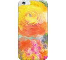 Painterly flowers in vivid summer colors iPhone Case/Skin