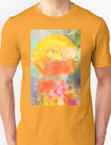 Painterly flowers in vivid summer colors T-Shirt