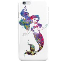 Little Mermaid Ariel Disney Princess Watercolor iPhone Case/Skin