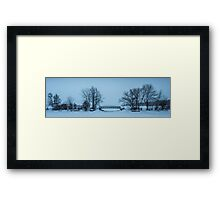 LaSalle Park Marina Bridge in Winter Framed Print