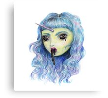 Spooky Unicornia and the Black Ooze Canvas Print