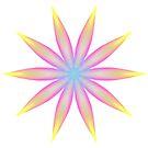 Rainbow Flame Flower Pattern Kaleidoscope 04 by fantasytripp