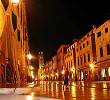 Dubrovnik by night by mypics4u