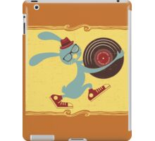 Hipster Easter bunny vinyl record iPad Case/Skin