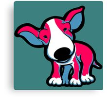 EBT Puppy Pink , White and Teal  Canvas Print
