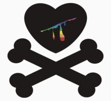 heart and crossbones by chromatosis
