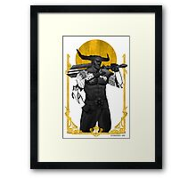 Horns Up Framed Print