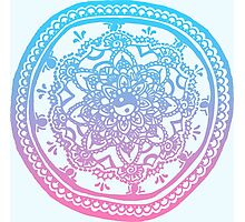 Pink and Blue Ombre Design Photographic Print