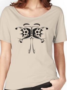 Psychedelic Butterfly (Black) Women's Relaxed Fit T-Shirt