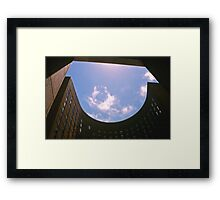 Big City Skyline.......the Sydney Soffitel from under the arches Framed Print
