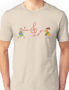 Musical Valentine Boy and Girl Unisex T-Shirt