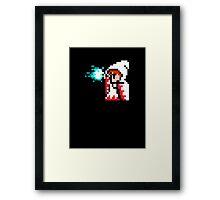 8 Bit White Mage Framed Print