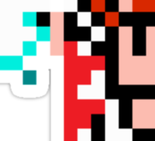 8 Bit White Mage Sticker
