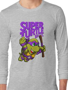 Super Turtle Bros - Donnie Long Sleeve T-Shirt