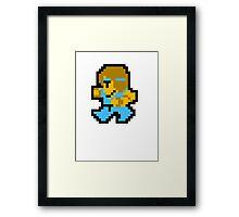 8 Bit Monk Framed Print