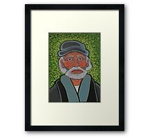 the old sea captain  Framed Print