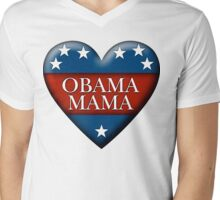 obama mama Mens V-Neck T-Shirt