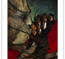 Dragon Age Inquisition Iron Bull Tarot card 4 Sticker