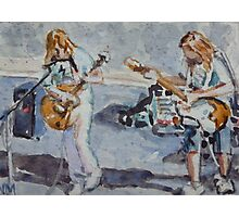 Hollywood Street Musicians Photographic Print