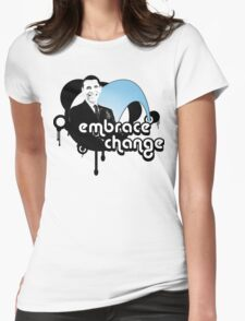 obama : embrace change Womens Fitted T-Shirt