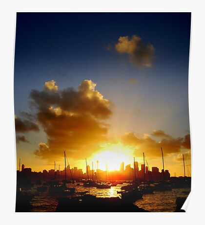 Scorching Sunset Poster