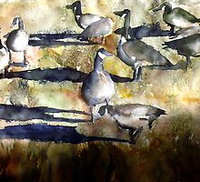 Park Geese by P. Mark Anderson
