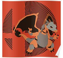 Armored Charizard (Smash) - Sunset Shores Poster