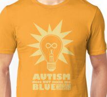 Autism Does Not Make Me Blue.  Celebrate Neurodiversity Unisex T-Shirt