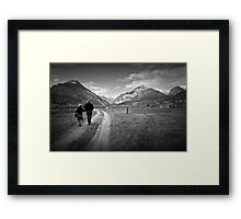 Walking together Framed Print