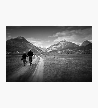 Walking together Photographic Print