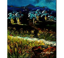 Dancing Waters, Acrylic painting Photographic Print