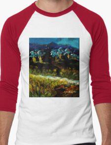 Dancing Waters, Acrylic painting Men's Baseball ¾ T-Shirt