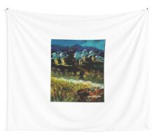 Dancing Waters, Acrylic painting Wall Tapestry