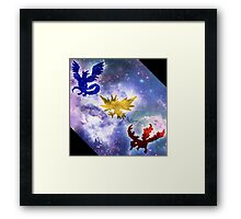 Legendary Galaxy Birds Framed Print