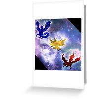 Legendary Galaxy Birds Greeting Card
