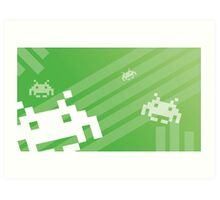 Retro Games: Space Invaders Art Print