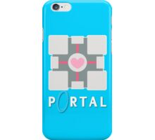 portal - companion cube iPhone Case/Skin