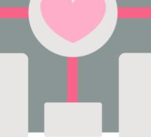 portal - companion cube Sticker