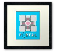 portal - companion cube Framed Print