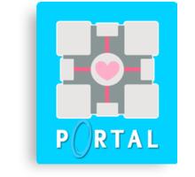 portal - companion cube Canvas Print